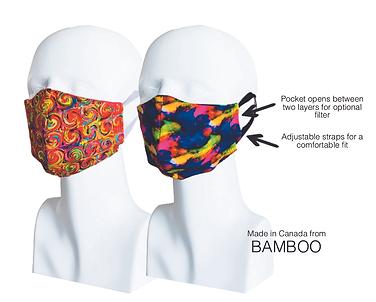 Women's Double Layer Masks (2) Vivid Sunset