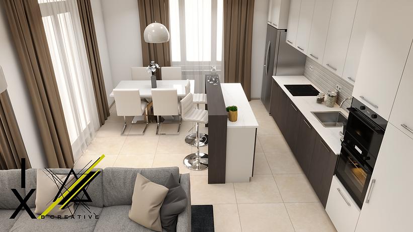 просторно всекидневие IXDesign интериорен дизайн