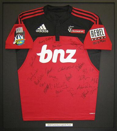 Rugby jersey framed