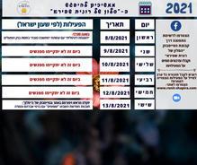 לוח המפגשים לשבוע 8-13/8