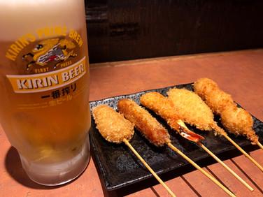 ビールセット串かつ5本セット かつ丼玄 河原町店