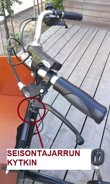 Sähkökäyttöisen pyörän seisontajarru