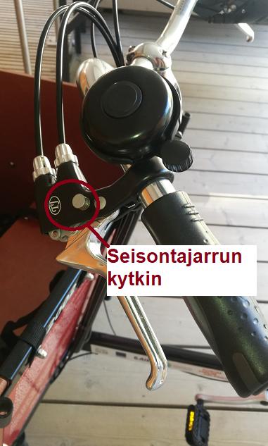 Sähköttömän pyörän seisontajarrun kytkin