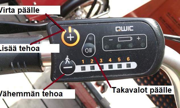 Sähkökäyttöisen pyörän hallinta