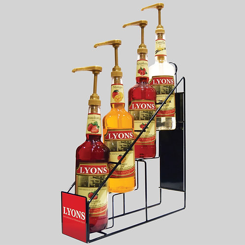 Premium Beverage Syrup Rack - 1 Free Case with purchase