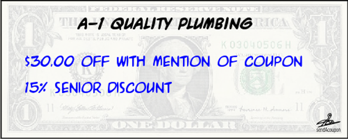 Modesto Plumber Plumbing Modesto $30.00 off Coupon 10% Senior Discount