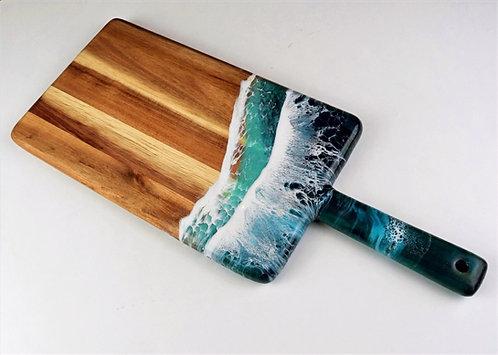 Teal-ocean-wave-breadboard-HalfBakedArt