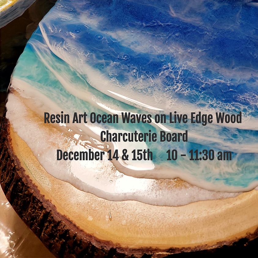 Ocean Surf Live Edge Charcuterie Board