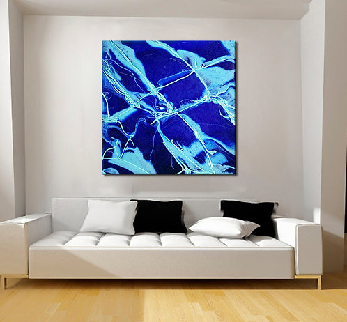 New Blue | Unstretched Canvas Print