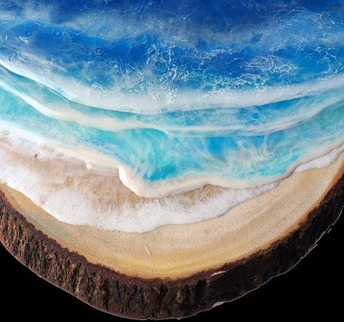 Ocean surf charcuterie board by Half Baked Art