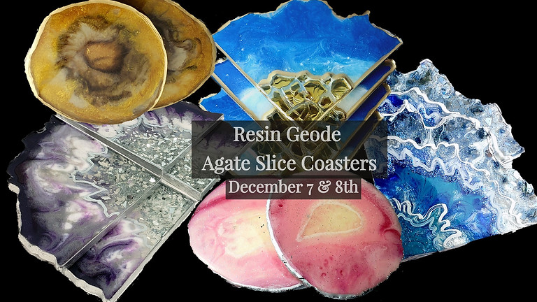 Geode/Agate Coasters | Holiday Workshop 2 Days