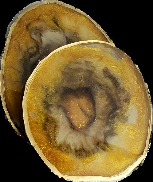 Resin Geode Coaster Set #7