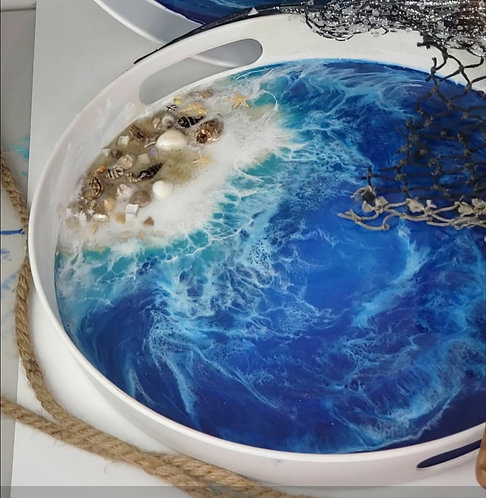 Ocean Waves Cocktail Tray
