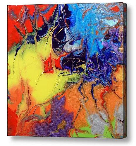 Evenflow acrylic print by halfbakedart