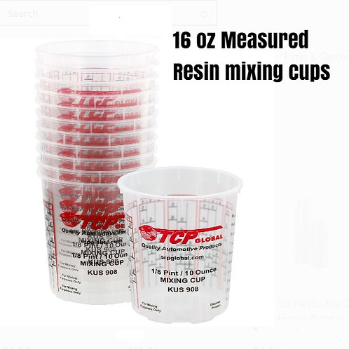 Epoxy resin mixing cups 10 pack from HalfBakedArt