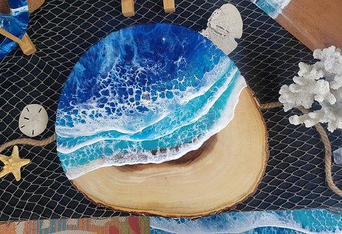 Ocean Waves Lazy Susan