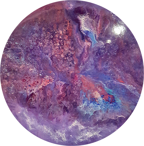 Groovy | Epoxy Resin Art | 36 inch Round