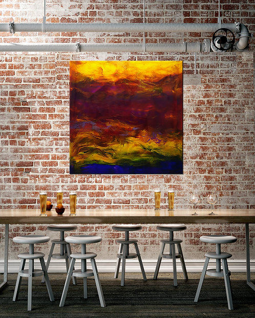 Sunset Boulevard | Unstretched Canvas Print