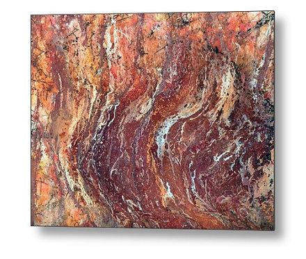 desert canyon metal wall art print by Jane Biven 1