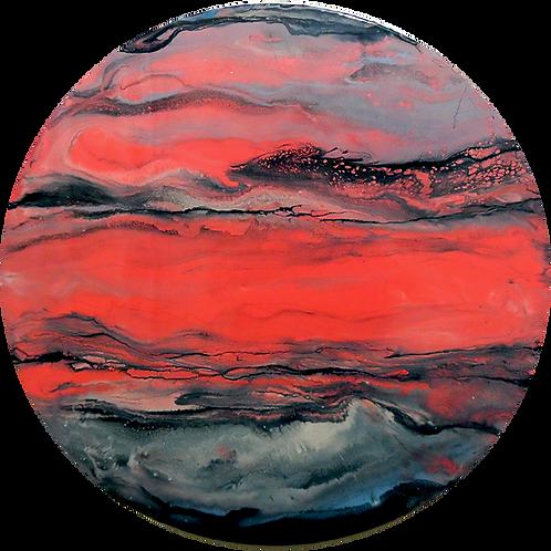 round resin art_Pretty in Pink_ HalfBakedArt