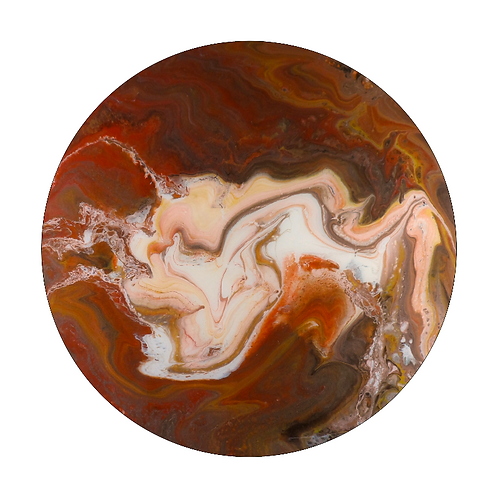 Round Resin Art Painting or Table Top