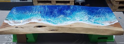 Ocean Surf on Live Edge Wood 3 Ft Bench