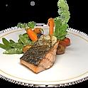 Le steak de saumon, sauce béarnaise