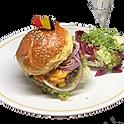Le burger pur boeuf,salade & frites