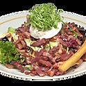 Salade aux lardons et oeuf poches