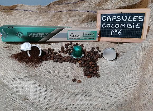 Capsules compatibles Nespresso© Colombie - Intensité 6/10 | Boîte de 10
