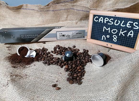 Capsules compatibles Nespresso© Moka - Intensité 8/10 | Boîte de 10