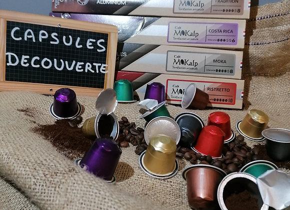 Coffret Découverte capsules compatibles Nespresso© | Lot de 60