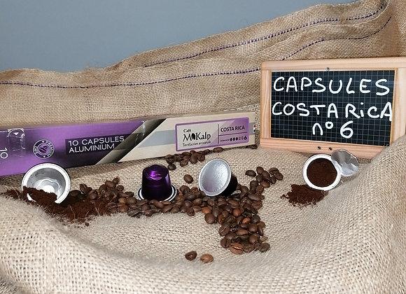Capsules compatibles Nespresso© Costa Rica - Intensité 6/10 | Boîte de 10