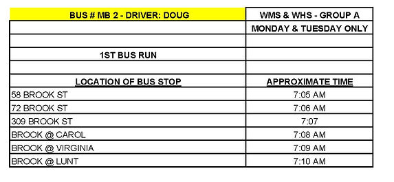 GROUP A - MS_HS - BUS # MB 2 - DOUG STAI