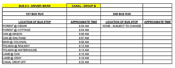 Copy of GROUP B - CANAL - BUS # 4 - MARK