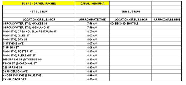 Copy of GROUP A - CANAL - BUS # 6 - RACH