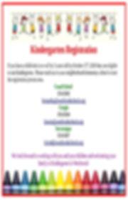 Kindergarten Registration Advertisement