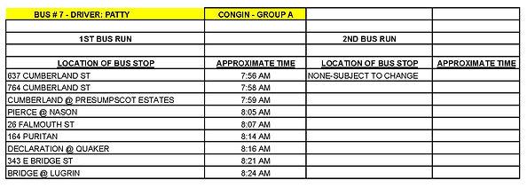 GROUP A - CONGIN - BUS # 7 - PATTY HARKI