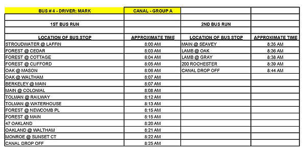 Copy of GROUP A - CANAL - BUS # 4 - MARK