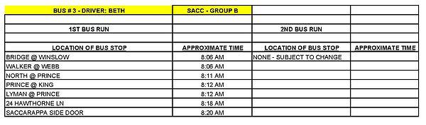 GROUP B - SACC - BUS # 3 - BETH MORRISON