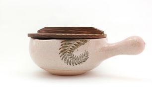 土楽・片手土鍋(絵柄7寸)