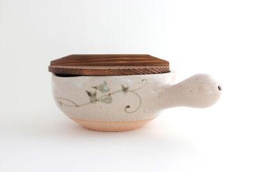 土楽・片手土鍋(絵柄6寸)
