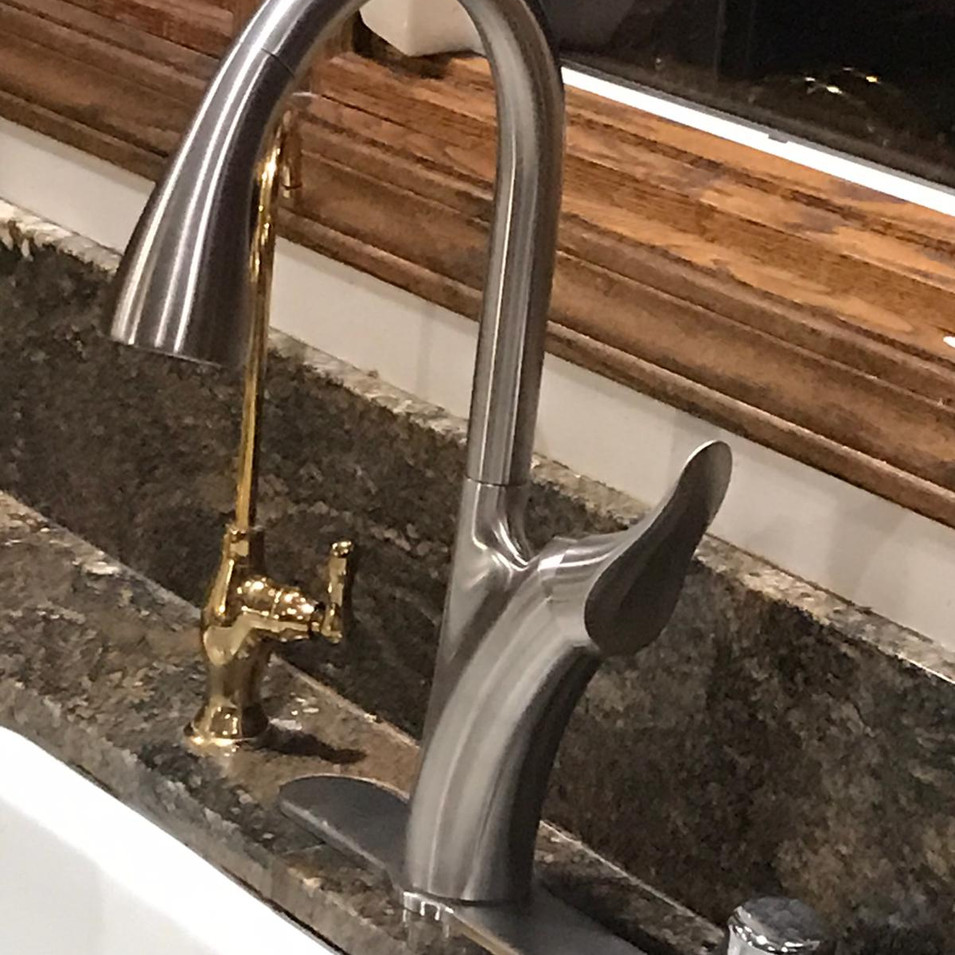 Installed touchless faucet