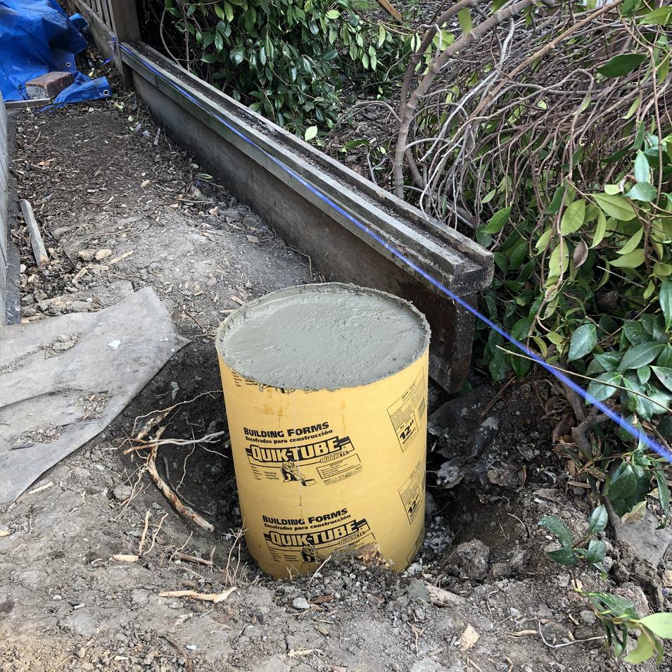 Fence concrete post