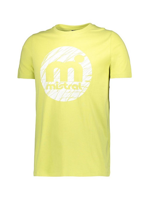Mistral Rounded Decal Print T Shirt Yellow