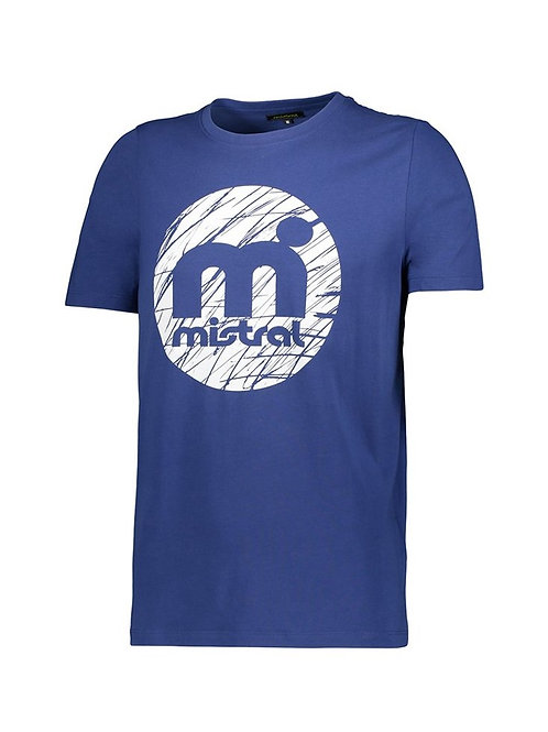 Mistral Rounded Decal Print T Shirt Blue