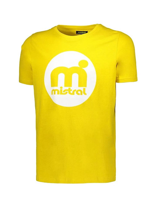 Mistral Retro Rounded Decal T Shirt Yellow