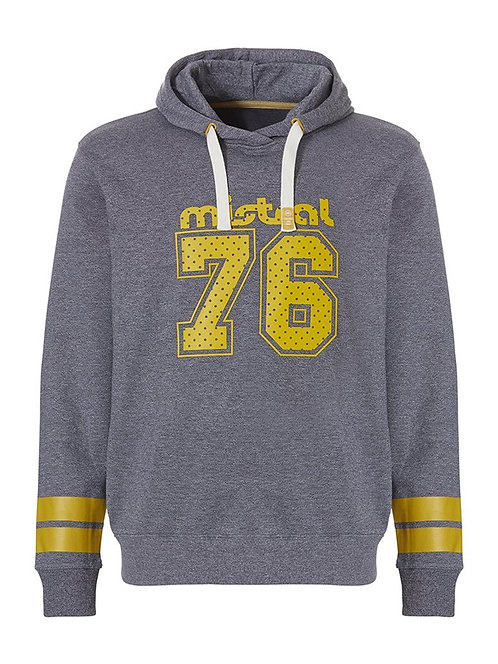 Mistral Hooded Sweat Shirt Grey/Yellow