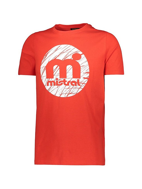 Mistral Rounded Decal Print T Shirt Red