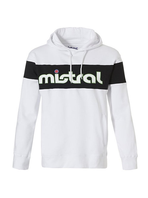 Mistral Reverse Logo Hooded Sweat Shirt White